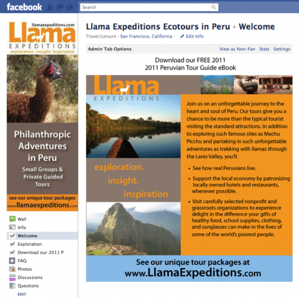 llama Expeditions Eco tours in Peru
